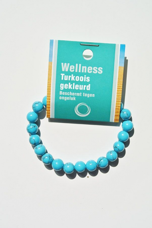 Powerbead armband turquoise of turkoois