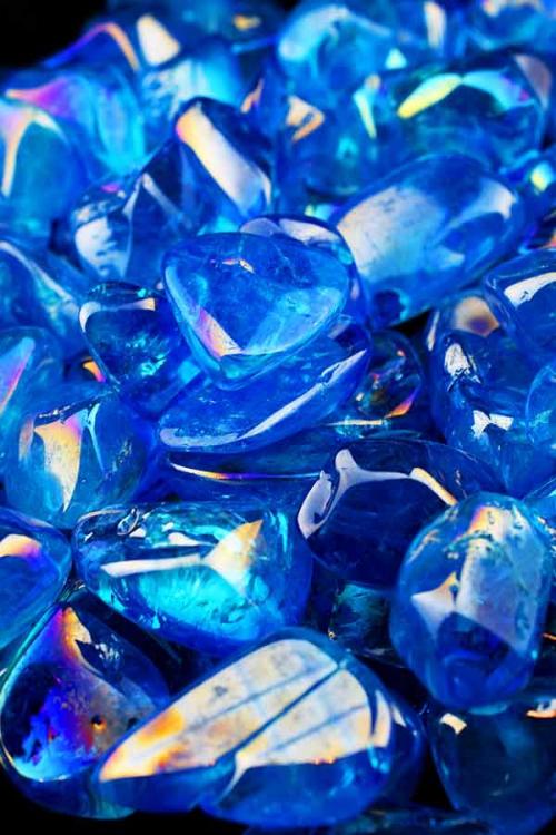 aqua aura stenen, aqua aura trommelstenen, getrommeld, knuffelsteen, gepolijst, tumbled, kopen