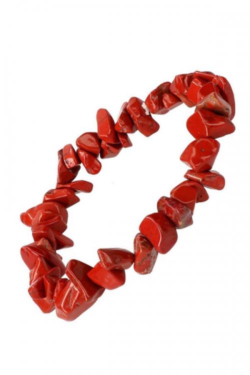 Rode Jaspis splitarmband, red jasper chips bracelet, kopen, edelsteen armband, edelstenen, armbandje, steentjes, klein