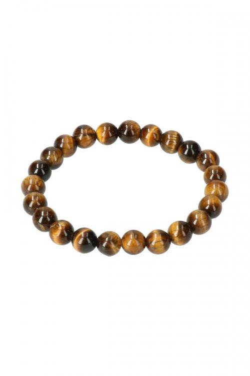 tijgeroog powerbead armband, kralen armband, 8 mm, edelsteen kralen, edelstenen kralen