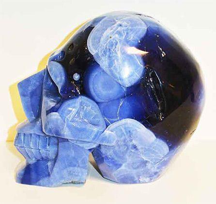 zeldzame Lazuliet schedel