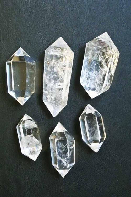 dubbelpunt, dubbeleinde bergkristal punten