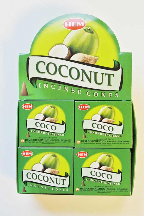 kokosnoot kegels wierook van HEM uit Bangalore India