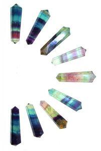 dubbelpunt, dubbeleinde fluoriet punten, dubbeleinder, dubbele punt, edelsteen, steen, edelstenen, kopen