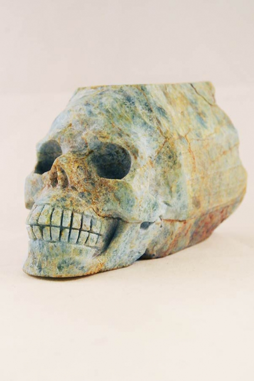 Aquamarijn Crystal Skull, aquamarin crystal skull, kristallen schedel aquamarijn, aquamarijn skull