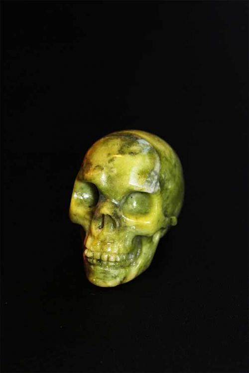 Jade Crystal Skull 5 cm