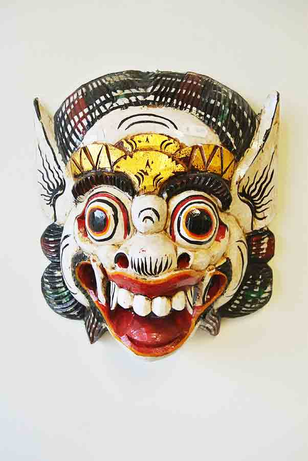 Indonesisch masker, wit - Happy Spirit