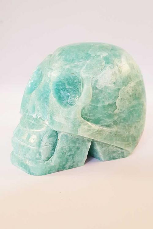 amazoniet, amazonite, crystal skull, skull, schedel, kristallen schedel, amazoniet skull, toermalijn, kopen, bestellen