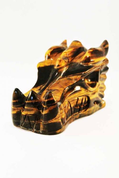 Tijgeroog drakenschedel, tijgeroog draak, kristallen draken schedel, tijgeroog kristallen schedel, tijgeroog crystal skull, dragon skull, tiger eye dragon, kopen, buy