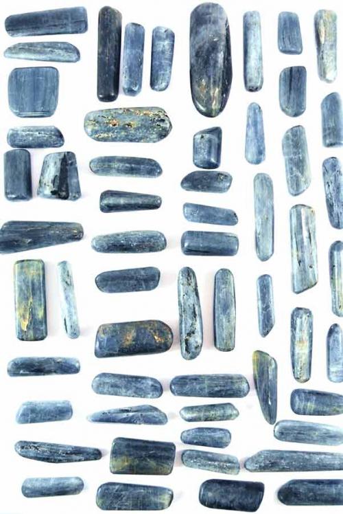 Kyaniet gepolijst, kyaniet trommelstenen, kyaniet knuffelsteen, knuffelstenen, distheen, distheen trommelstenen, kyaniet stenen, distheen stenen, edelstenen, mineralen, kopen