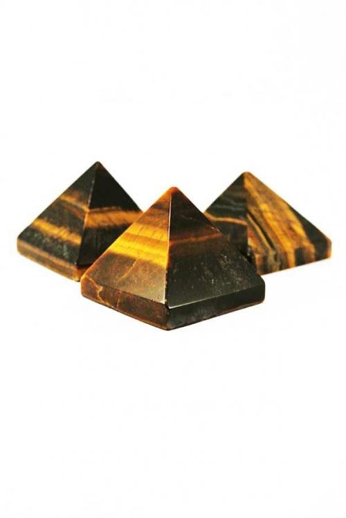 Tijgeroog piramide, 30-35 mm, Zuid Afrika, edelsteen piramide, edelstenen piramide, edelsteen piramide kopen, tiger eye pyramid