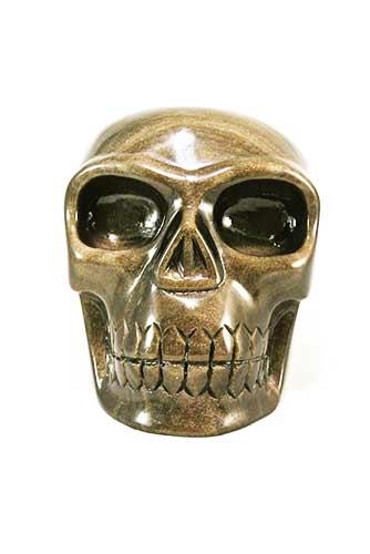 goud obsidiaan kristallen schedel, gold obsidian crystal skull
