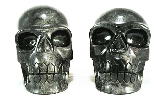 zilver obsidiaan kristallen schedels