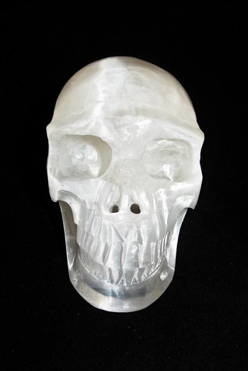 seleniet kristallen schedel, seleniet kristallen schedel realistisch, selenite skull, crystal skull, kopen