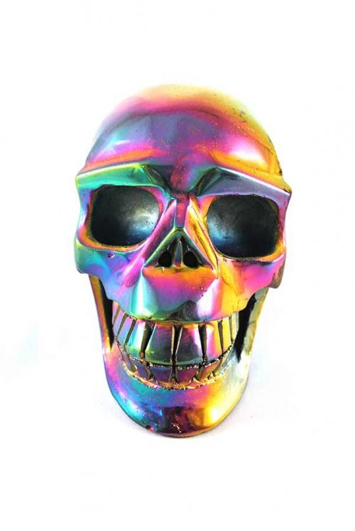 Titanium Aura kristallen schedel, titanium regenboog kwarts schedel, skull, crystal skull, kopen