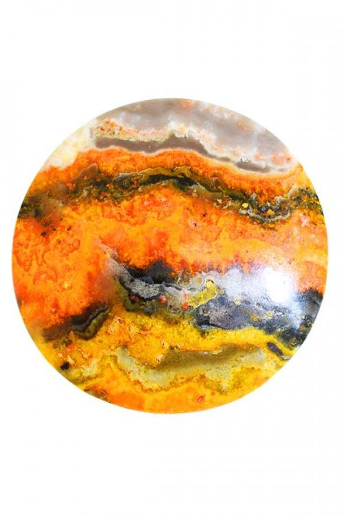 Bumblebee jaspis cabochon, cabouchon, cabuchon, eclips steen, indonesie