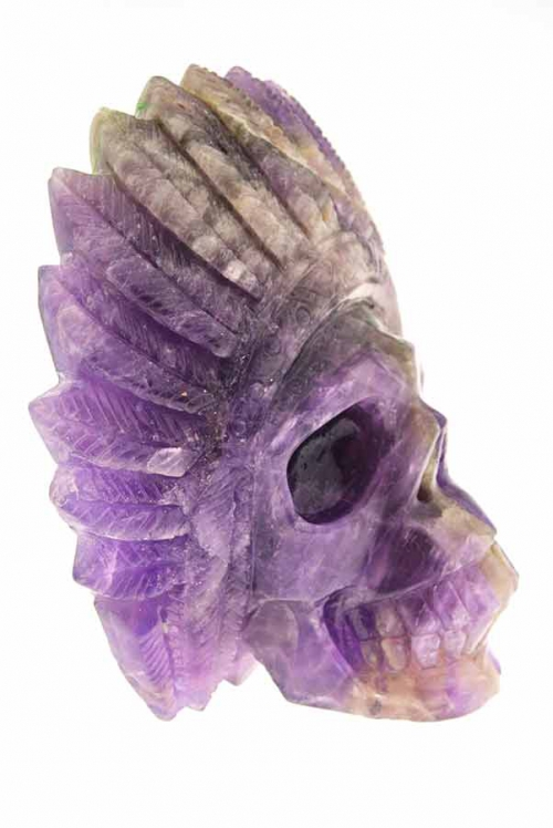 amethist, amethyst, indianenschedell, kristallen schedel, natief amerikaans, hoofdtooi, kopen, bestellen, nederland, arnhem, crystal skull, native american,