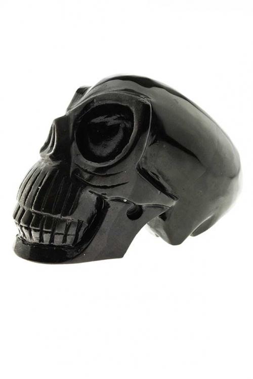 Zilver Obsidiaan Alien kristallen schedel, silver obsidian alien skull, crystal skull, kopen, arnhem, happy spirit, edelstenen,