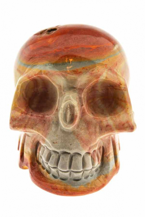 Polychroom jaspis kristallen schedel, polychrome jasper earthling skull, Polychroom jaspis aardling schedel, 8.5 cm, Polychroom jaspis kristallen schedel, 10 cm, polychrome jasper, crystal skull, schedel, kopen