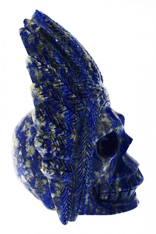 Lapis Lazuli indianenschedel, lapis zule, lapis crystal skull, lapis, kristallen schedel, indiaan, native american