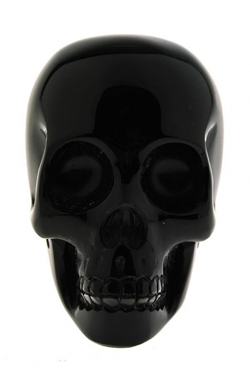 Obsidiaan kristallen schedel, 5 cm, obsidiaan realistische kristallen schedel