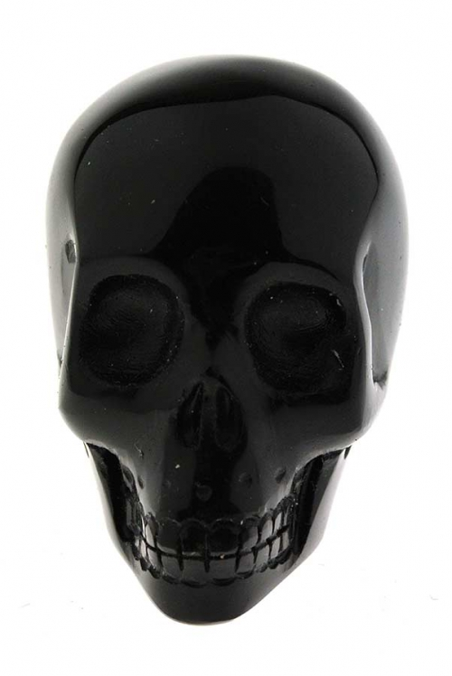 Obsidiaan kristallen schedel, 5 cm