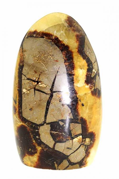 Septarie gepolijst, Septarie steen, Septarie sculptuur, edelstenen, edelsteen, septarian, calciet, aragoniet, klei