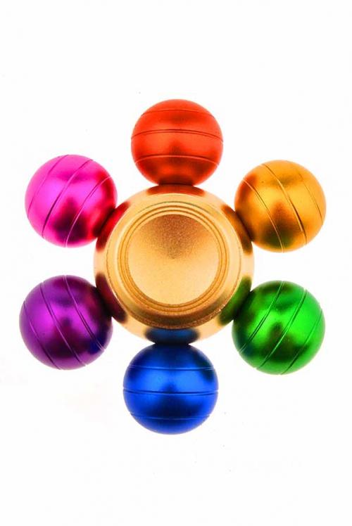 Kleurenbol spinner, metaal, 2 - 3 minuten, top kwaliteit