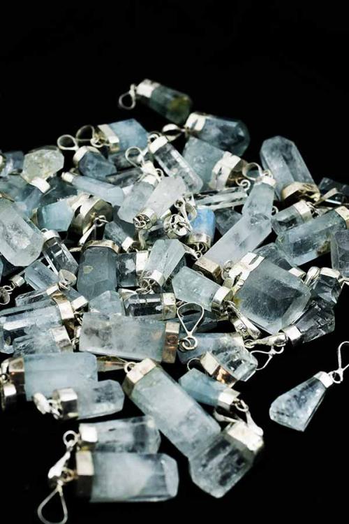 Aquamarijn 925 sterling zilveren hanger, aquamarine, blue, blauw, edelsteen, kopen, hanger, pendant, kopen