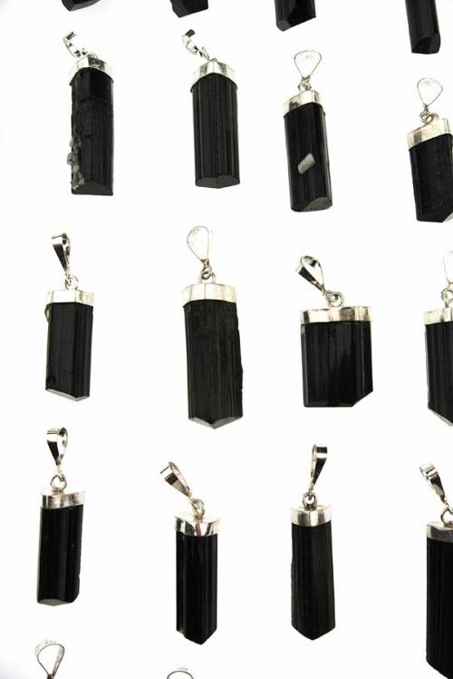 Zwarte Toermalijn zilveren hanger, edelsteen hanger, edelstenen kopen, turmaline, black, zwart, sterling zilver