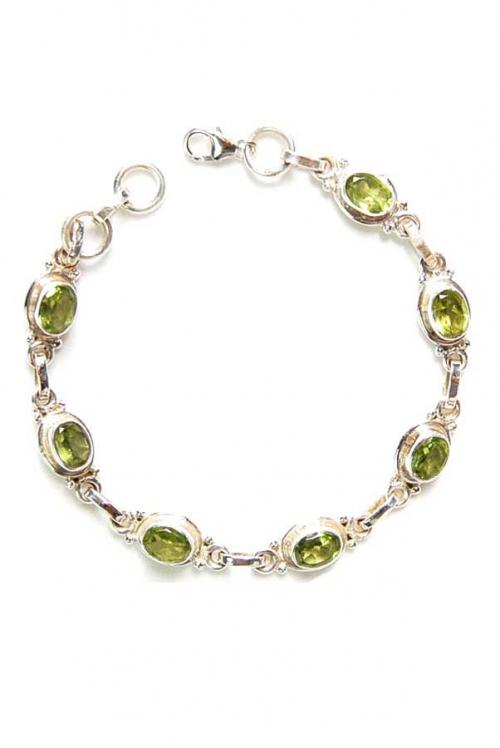 Peridoot armband zilver, peridote, olivijn, edelstenen armband, edelsteen armband, kopen