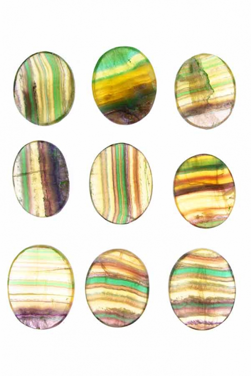 Regenboog fluoriet duimstenen, rainbow fluorite, zakstenen, zak steen, worry stones, worry stone, duimstenen, duimsteen, kopen, arnhem, happy spirit