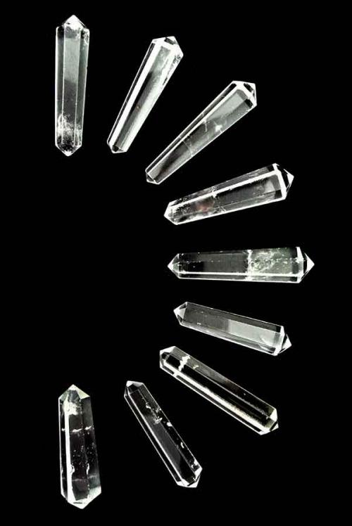 Bergkristal dubbelpunten, 4-5 cm, dubbelpunters, dubbeleinder, kopen, grid, maken, edelstenen, minderalen