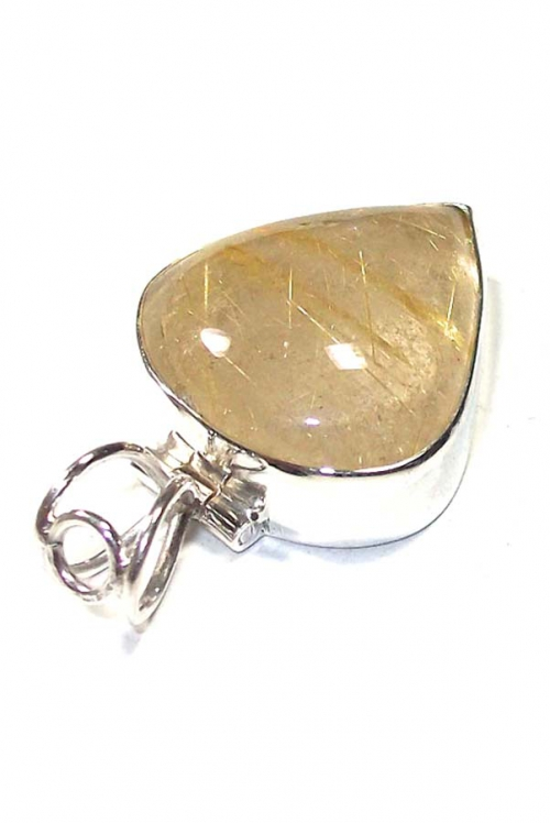 Goud Rutiel hanger zilver , golden rutile, gouden rutiel, goudrutiel, kopen,