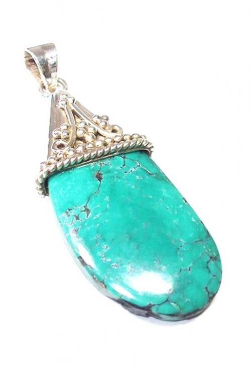 Turkoois zilveren hanger , turqouise, silver pendant, 925 zilver, edelstenen, mineralen, turkoois hanger kopen