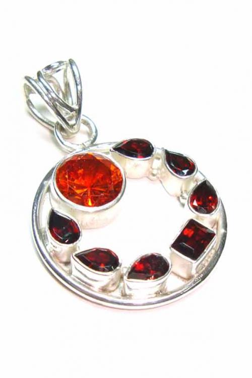 granaat hanger zilver, 925 sterling, silver pendant, garnet, kopen, granaat hanger,