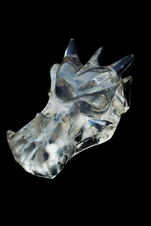 Bergkristallen drakenschedel, clear quartz crystal dragon, bergkristal draak, kopen, edelstenen, arnhem, top kwaliteit, realistische carving, speciaal
