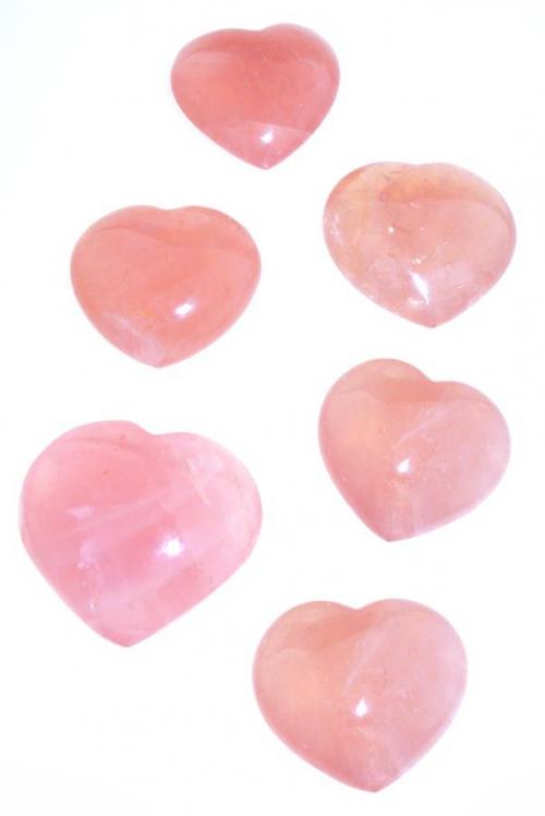 Rozenkwarts hart groot, 6 - 8 cm, 150 - 200 gram, Madagaskar, rosequartz hearts, heart, harten, rozekwarts, kopen, groot, grote