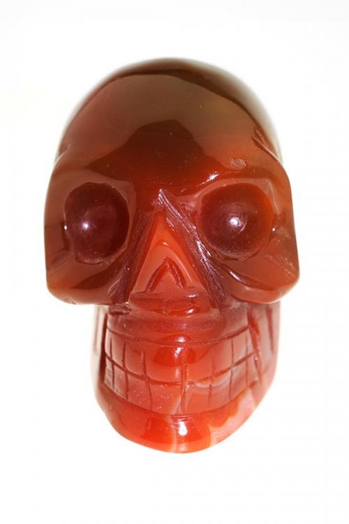 kristallen agaat schedel, agaat crystal skull, bloedgaat, carneool crystal skull, kristallen schedel carneool