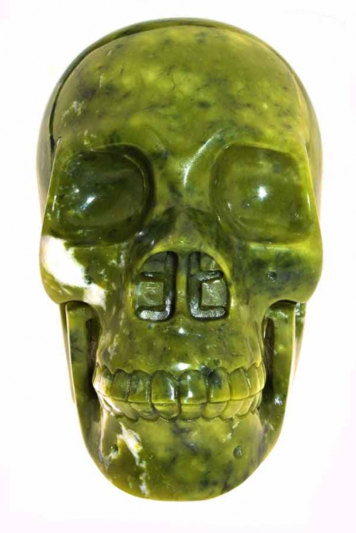 jade grote kristallen schedel, jade crystal skull, huge, big, kopen,