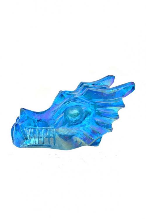 aqua aura drakenschedel, aqua aura draak, kopen, arnhem, crystal dragon, skull,