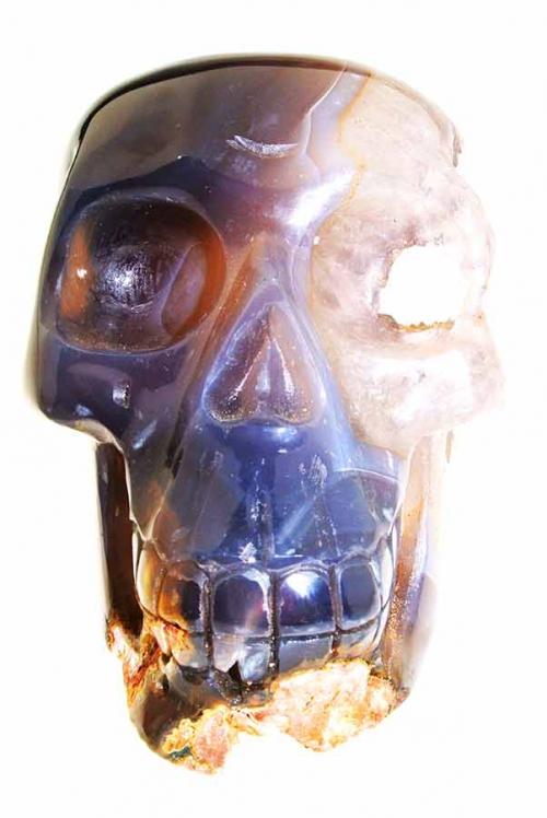 Agaat Geode kristallen schedel, 14.5 cm, 1.47 kg, agate geode crystal skull, kopen, arnhem