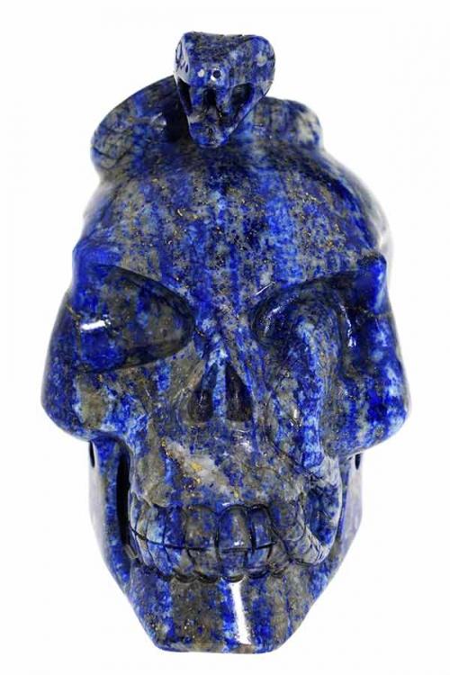 lapis lazuli slangen schedel, kristallen slangen schedel, kristallen schedel, crystal skull, snake, kundalini, lapis lazuli, lapis, lapis lazule, kopen, edelstenen,