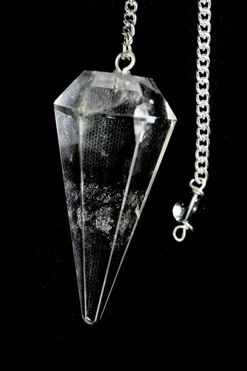 Bergkristal pendel, 3-5 cm, gefacetteerd 6-vlak, Top kwaliteit!, pendulum, edelstenen pendel, stenen pendel