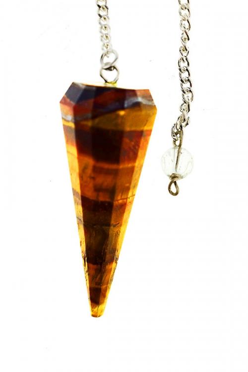 Tijgeroog pendel, 3-5 cm, gefacetteerd 12-vlak, tiger eye pendullum, kopen, edelstenen pendel, stenen pendel