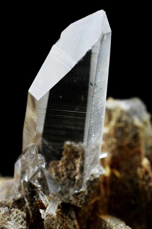 bergkristal, mineraal, ruw, stuk, punt, natuurlijk, groot, kopen