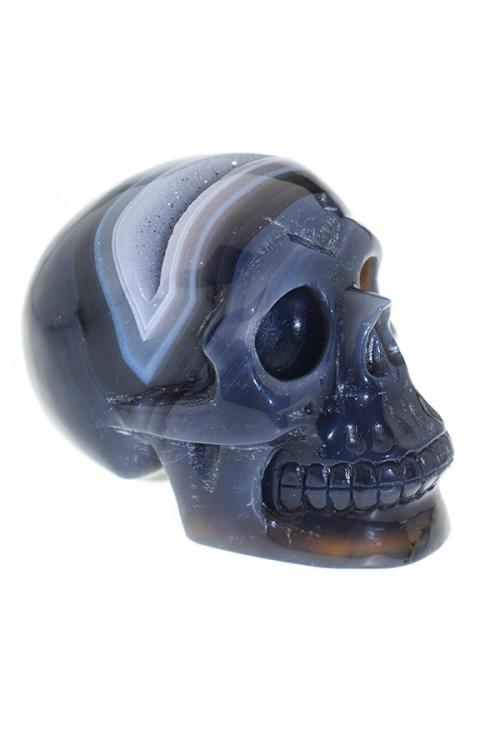 Agaat met Chalcedoon geode kristallen schedel, agaat geode schedel, kristallen schedel, crystal skull, kopen, agate crystal skull
