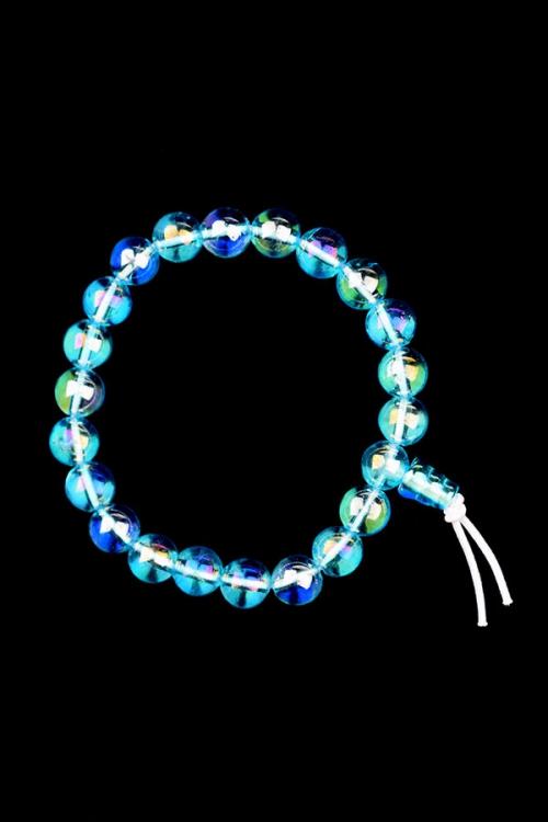 Aqua Aura Powerbead armband, 8 mm, edelstenen armband, kopen, edelsteen armband, aqua aura bracelet