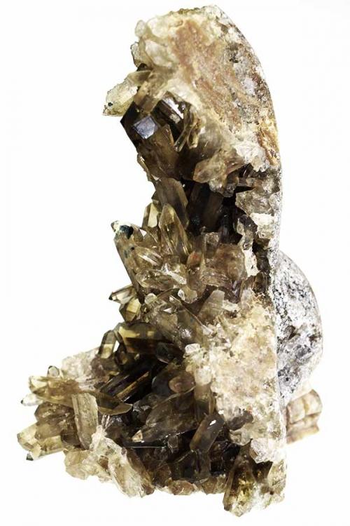 Rookkwarts cluster kristallen schedel, smokey quartz crystal skull, edelstenen, edelsteen, mineralen, kopen