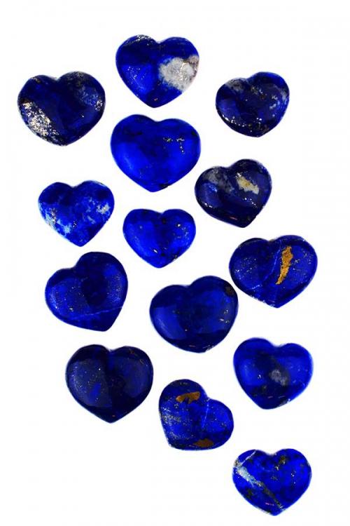 Lapis Lazulihartje, 3 - 4 cm, lapis lazuli kopen, hearts, blauw